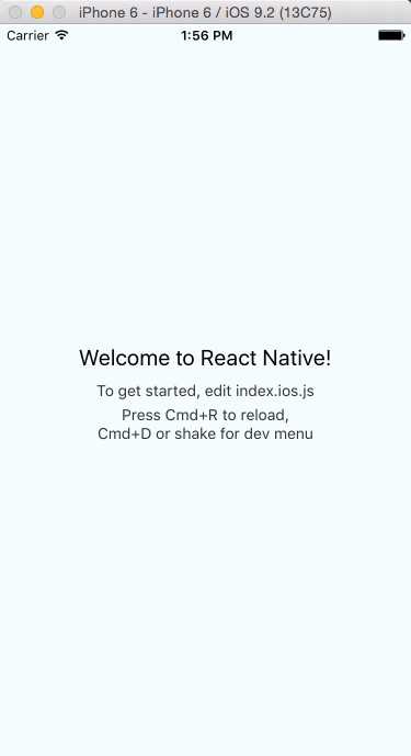 第一个ReactNative